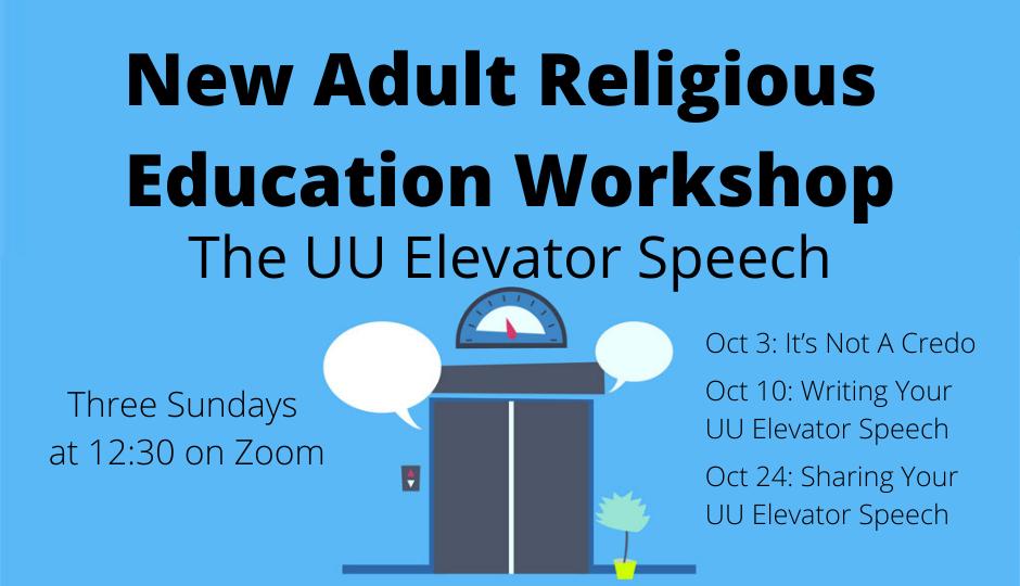 The UU Elevator Speech